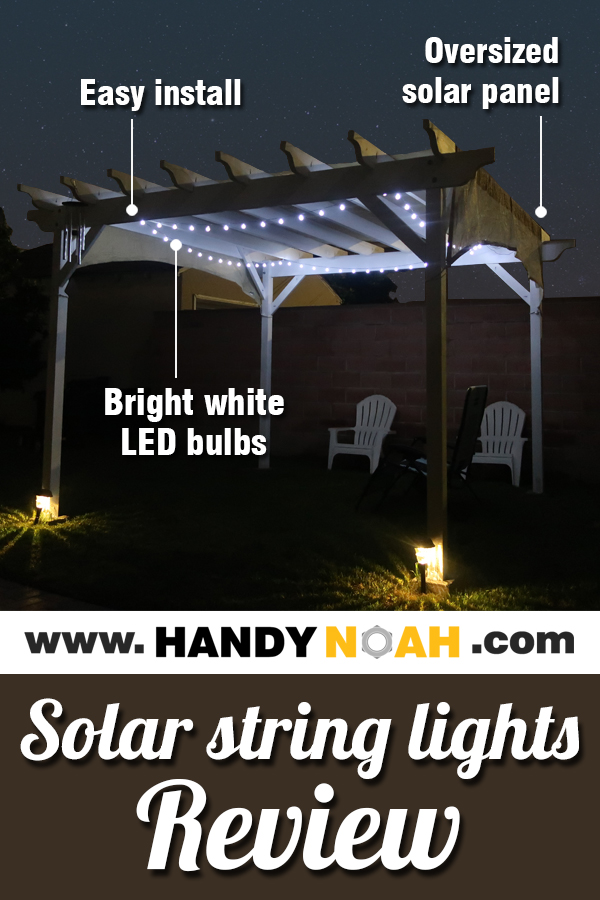 Outdoor solar string lights review