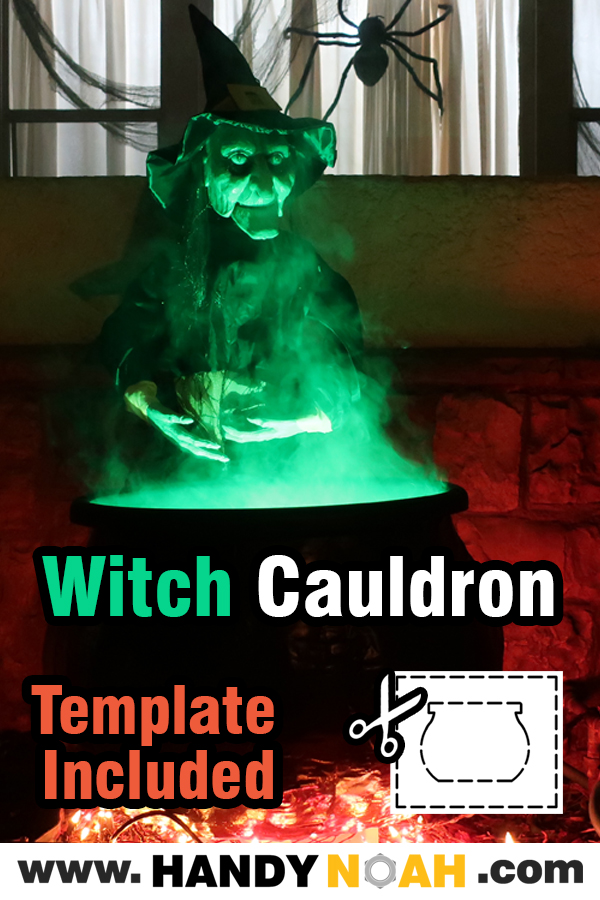 Learn how to make a witches cauldron prop for halloween with this step by step tutorial by using common household items and tools!