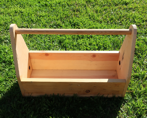 how to make a wood garden tote