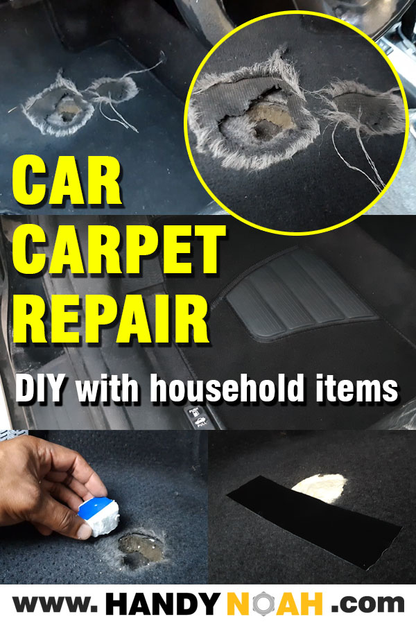 repair your car floor carpet DIY using household items